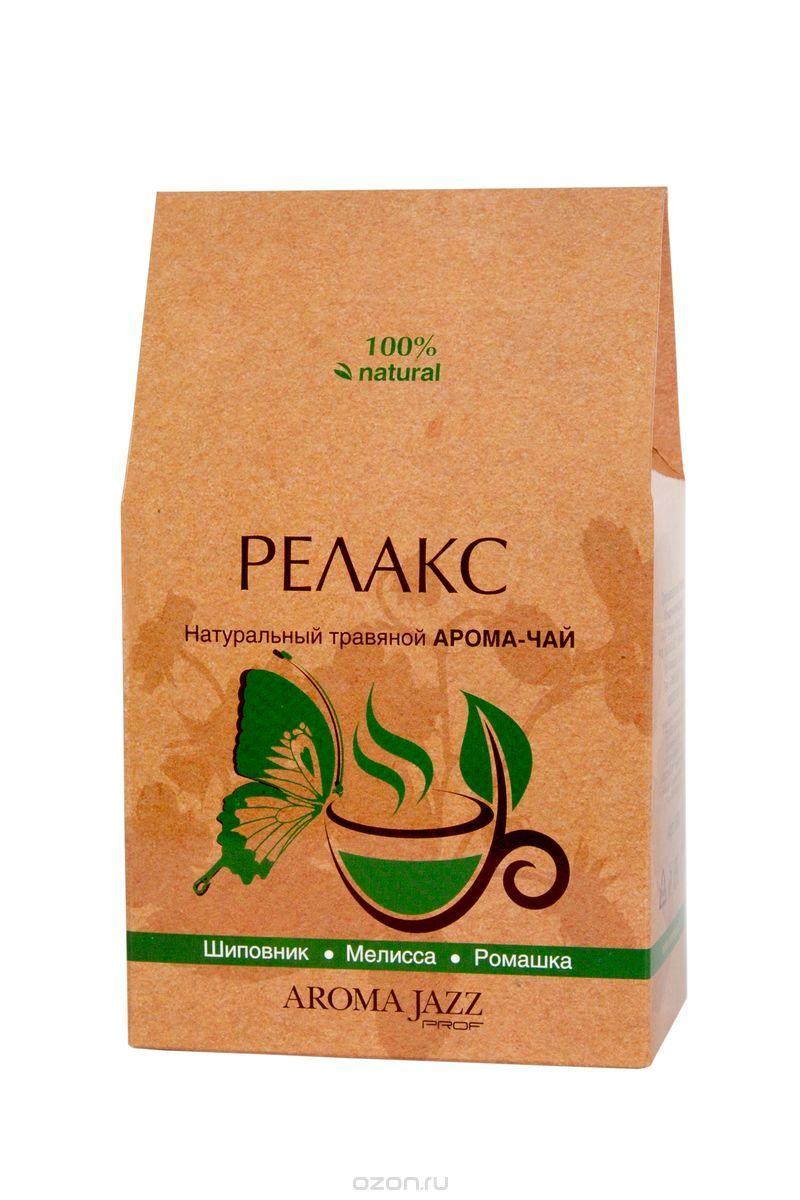 Aroma Jazz Релакс травяной арома-чай, 80 г0120710Чай Aroma Jazz содержит в себе полезные травы для вашего организма. Он снимает раздражение и напряжение, успокаивает нервы. Напиток содержит природный поливитаминный комплекс, обладает желчегонным и противовоспалительным действием.