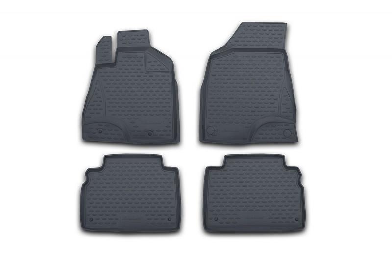 Набор автомобильных ковриков Novline-Autofamily для BMW X5 1999-2006, в салон, цвет: серый, 4 штВетерок 2ГФНабор автомобильных ковриков Novline-Autofamily, изготовленный из полиуретана, состоит из 4 ковриков, которые учитывают все особенности каждой модели автомобиля и полностью повторяют контуры пола. Полиуретановые автомобильные коврики для салона произведены из высококачественного материала, который держит форму, прочный и не пачкает обувь. Коврики в салон не только улучшат внешний вид салона вашего автомобиля, но и надежно уберегут его от пыли, грязи и сырости, а значит, защитят кузов от коррозии. Полиуретановые коврики для автомобиля гладкие, приятные и не пропускают влагу. Ковры для автомобилей надежно крепятся на полу и не скользят, что очень важно во время движения. Чистятся коврики очень просто: как при помощи автомобильного пылесоса, так и различными моющими средствами. Набор подходит для BMW X5 1999-2006 годов выпуска.