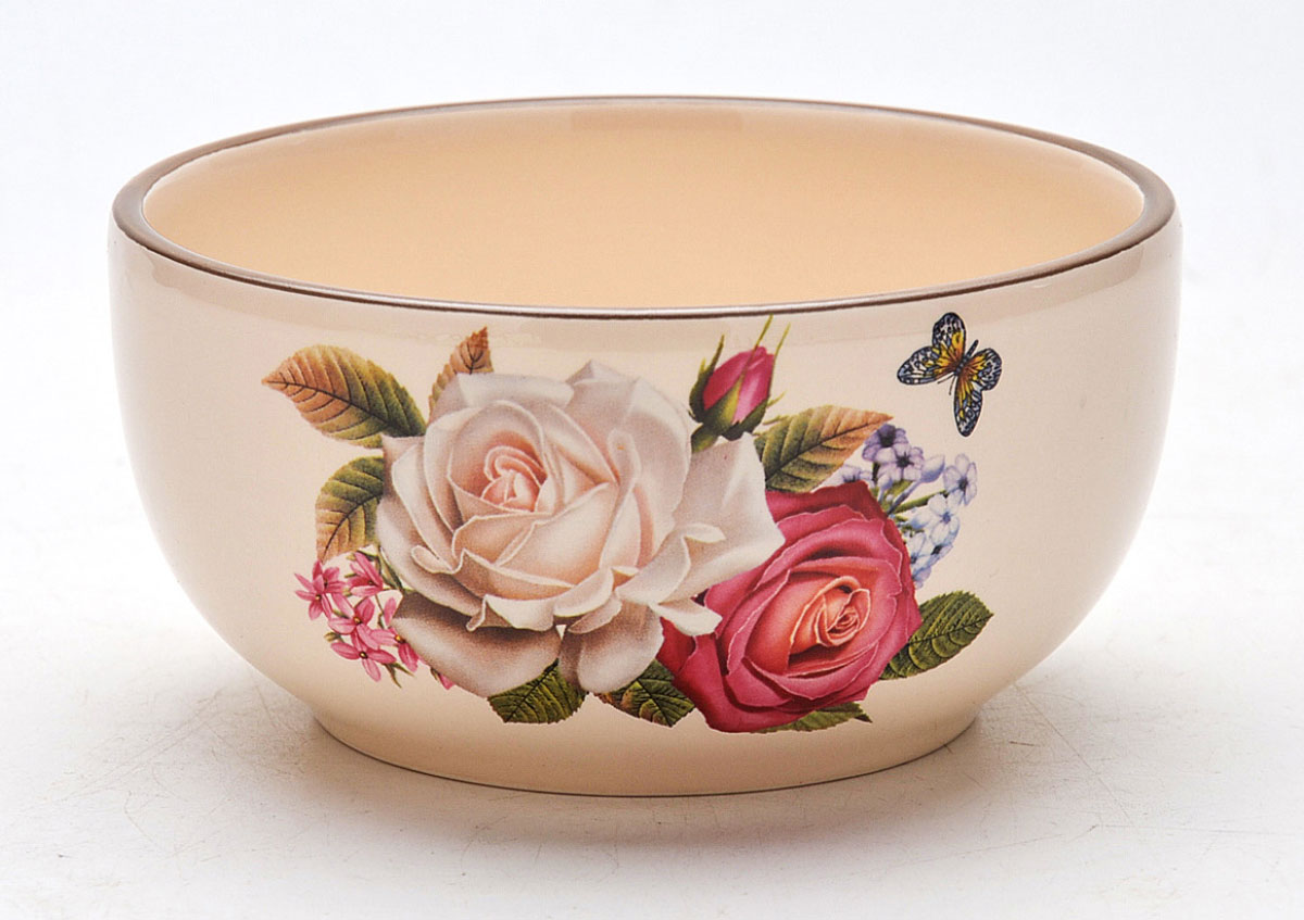 Супница Mayer & Boch Розы, 350 мл22580Супница изготовлена из доломитовой керамики высокого качества и оформлена красивым рисунком.Изделие легко мыть как вручную, так и в посудомоечной машине.Объем супницы: 350 мл.