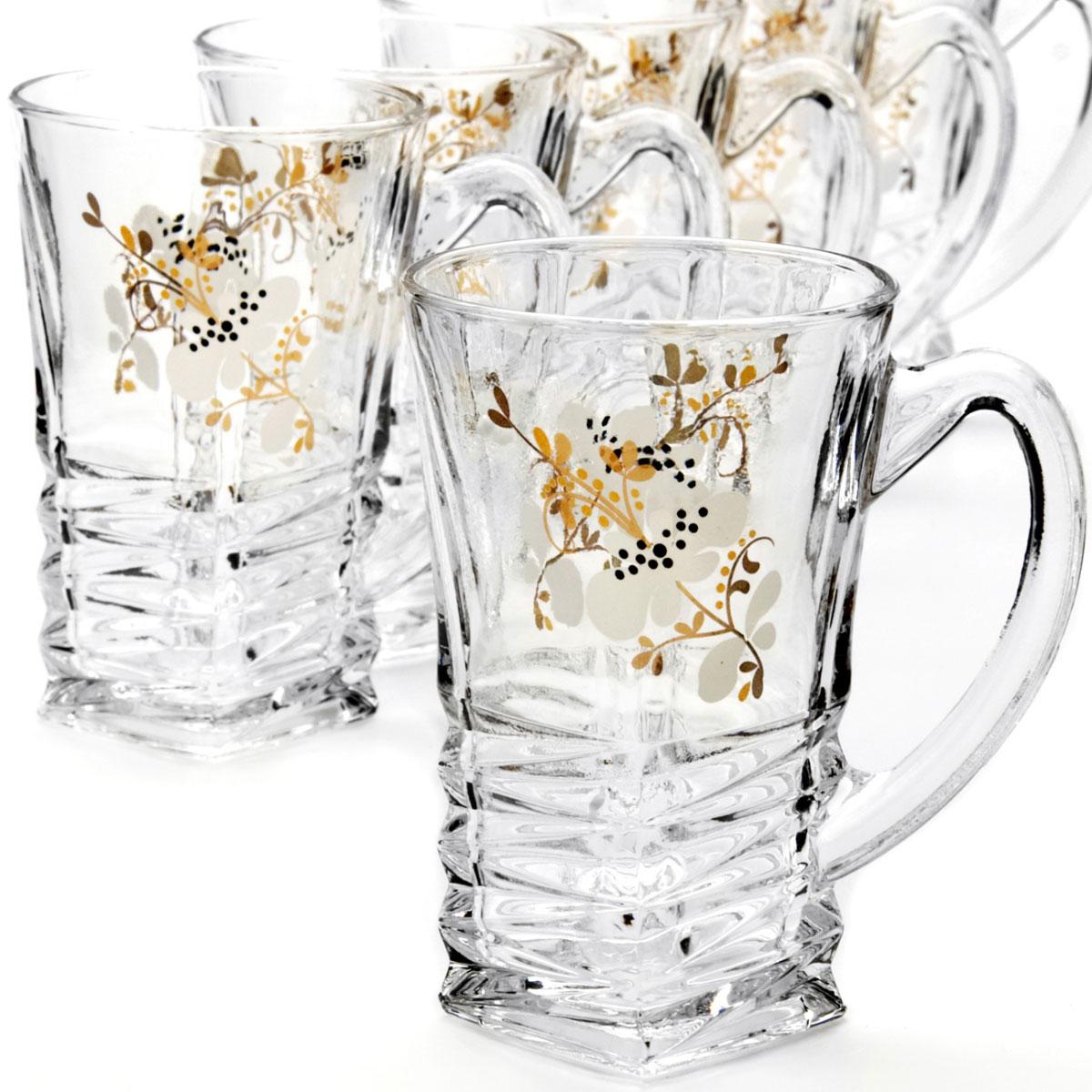 Набор кружек Loraine, 155 мл, 6 шт. 2408324083Набор Loraine состоит из 6 кружек, выполненных из высококачественного стекла. Изделия декорированы изысканным рельефом и рисунком. Благодаря такому набору пить напитки будет еще вкуснее. Набор кружек Loraine станет также отличным подарком на любой праздник. Подходит для горячих и холодных напитков. Не рекомендуется мыть в посудомоечной машине. Диаметр стакана (по верхнему краю): 6 см. Высота стакана: 10 см.
