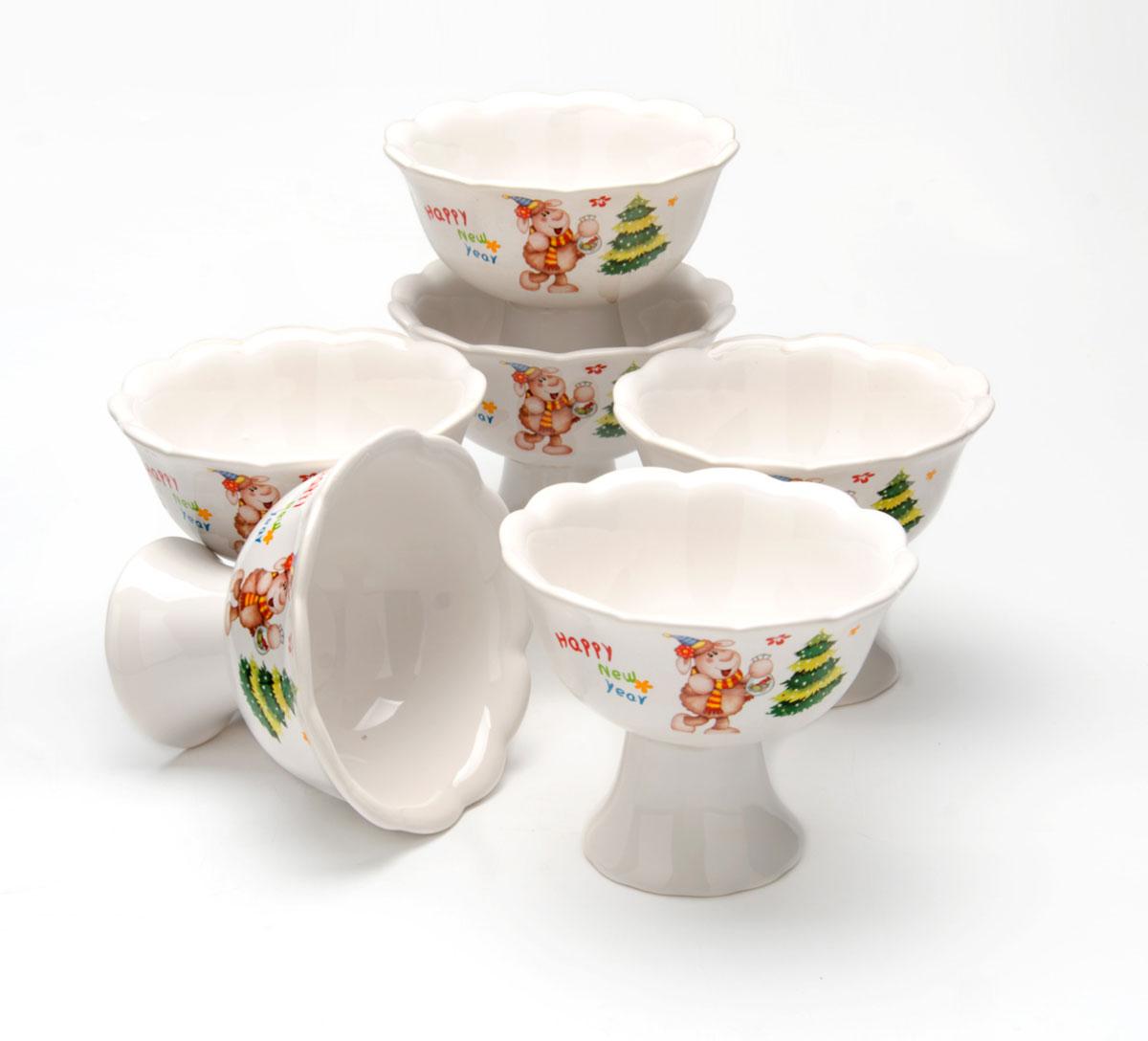 Набор креманок Loraine Барашек, 200 мл, 6 предметов104304Набор Барашек состоит из шести креманок, изготовленных из прочной керамики высоково качества. Они предназначены для красивой сервировки десертов и мороженного. Такой набор украсит любой праздничный стол, а также может стать отличным подарком к любому празднику.