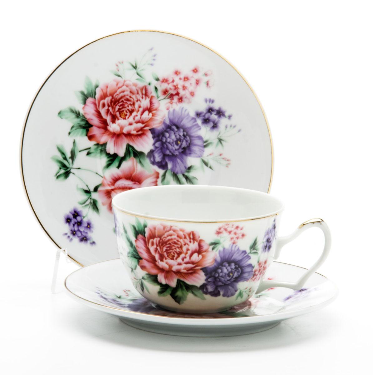 Чайная пара Loraine, 250 мл, 4 предмета. 24596VT-1520(SR)Этот чайный набор, выполненный из керамики, состоит из двух чашек и двух блюдец. Предметы набора оформлены ярким изображением цветов. Изящный дизайн и красочность оформления придутся по вкусу и ценителям классики, и тем, кто предпочитает утонченность и изысканность. Чайный набор - идеальный и необходимый подарок для вашего дома и для ваших друзей в праздники, юбилеи и торжества! Он также станет отличным корпоративным подарком и украшением любой кухни. Чайный набор упакован в подарочную коробку из плотного цветного картона. Внутренняя часть коробки задрапирована белым атласом.