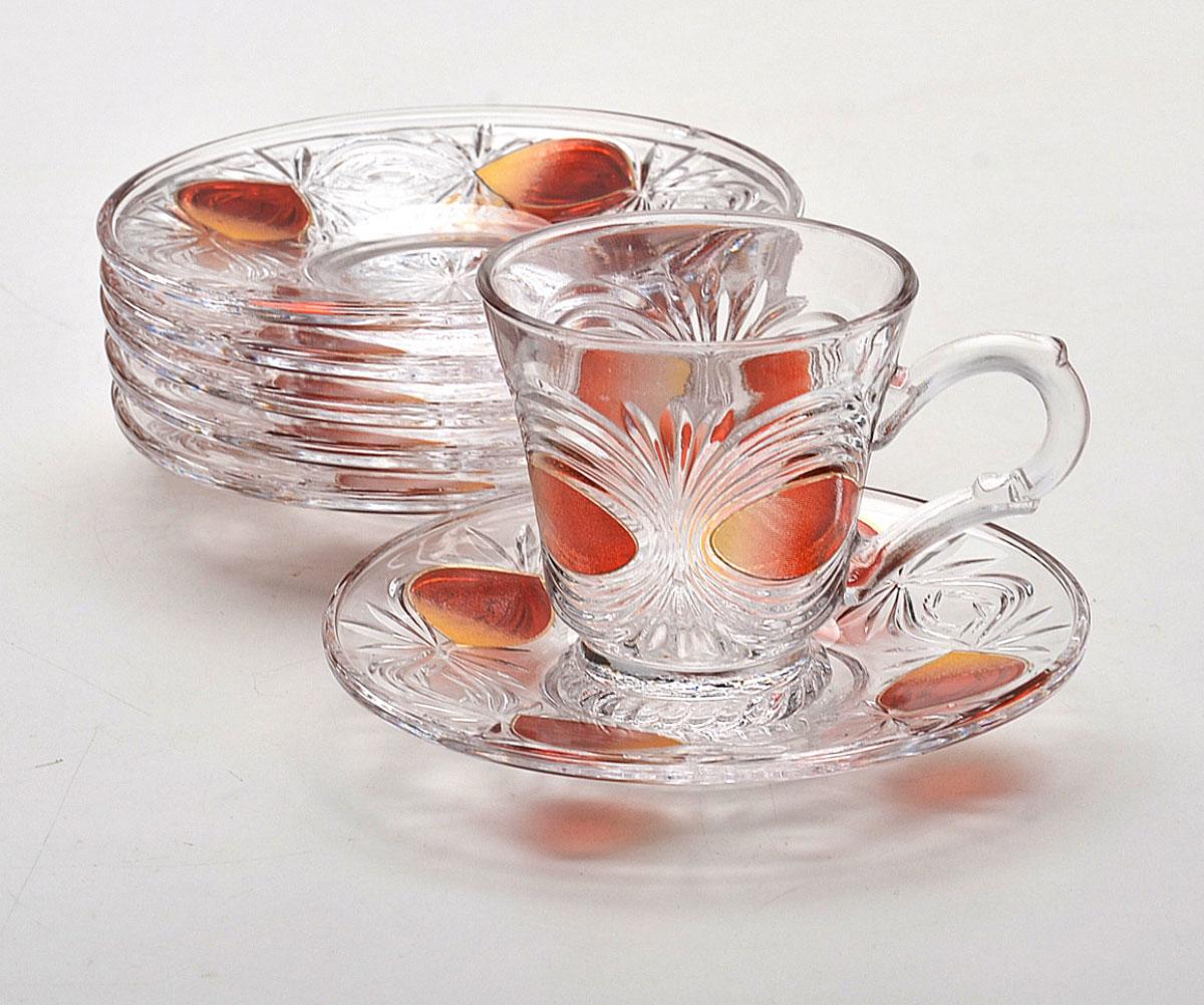Набор для чая Mayer & Boch, 12 предметов. 2993VT-1520(SR)Материал:стекло