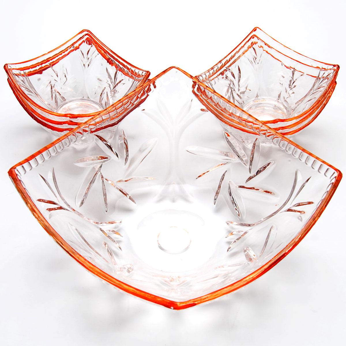 Набор салатников Mayer & Boch, 7 предметов. 2276254 009312Набор, выполненный из высококачественного стекла и декорированный рельефным рисунком, состоит из шести маленьких и одной большой пиалы. Пиалы прекрасно подойдут для сервировки стола и станут достойным оформлением для ваших любимых блюд. Изящный дизайн, высокое качество и функциональность набора позволят ему стать достойным дополнением к вашему кухонному инвентарю. 49х25х14см 2,35 л