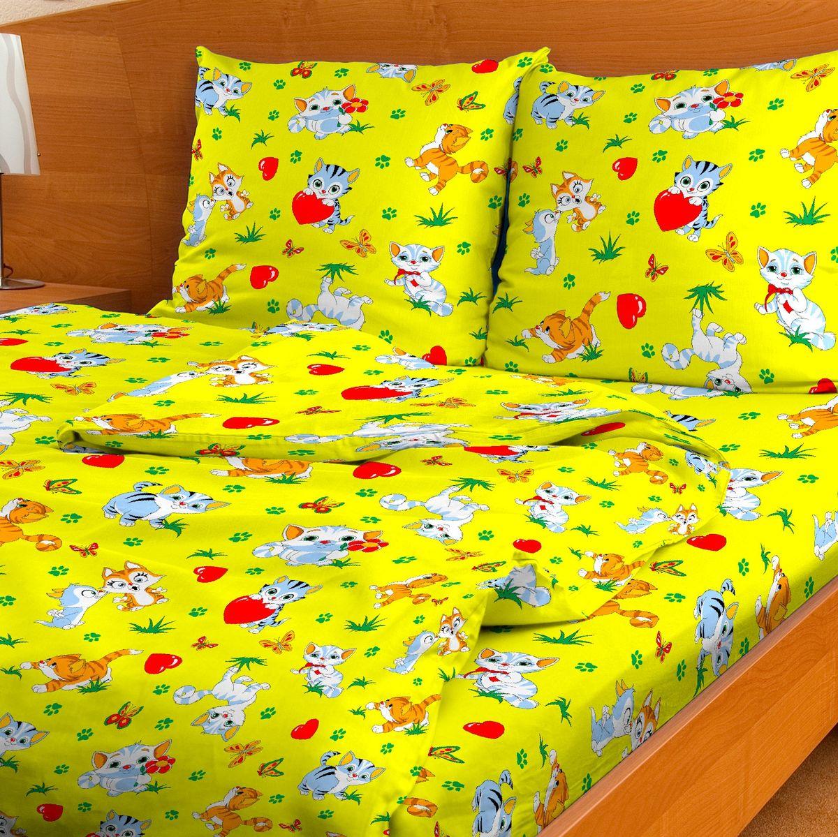 Letto Комплект детского постельного белья Мурзик186495Letto.kids - это веселые детские и подростковые дизайны, в хлопковом исполнении с хорошими устойчивыми красителями и все это по очень доступной цене! Такое белье прослужит долго и выдержит много стирок. Рисунок на наволочке может отличаться от представленного на фото.