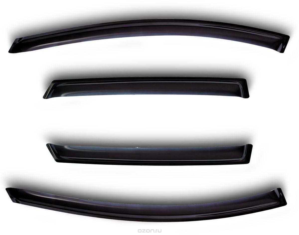 Дефлекторы окон Novline-Autofamily, для 2 door Hyundai H-1 2007-, 4 шт240000Дефлекторы окон Novline-Autofamily, служат для защиты водителя и пассажиров от попадания грязи и воды летящей из под колес автомобиля во время дождя. Дефлекторы улучшают обтекание автомобиля воздушными потоками, распределяя воздушные потоки особым образом. Защищают от ярких лучей солнца, поскольку имеют тонированную основу. Не требует дополнительного сверления, устанавливается в штатные места. Выполнен дефлектор из прочного акрила.