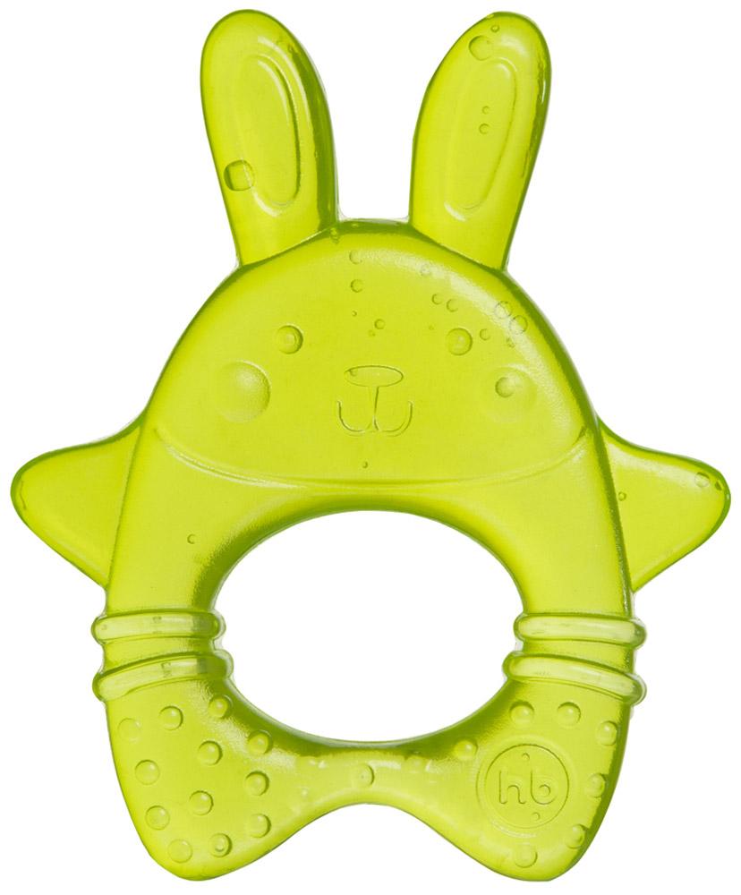 Happy Baby Прорезыватель Зайчик цвет салатовый happy baby погремушка прорезыватель музыкальная от 3 мес