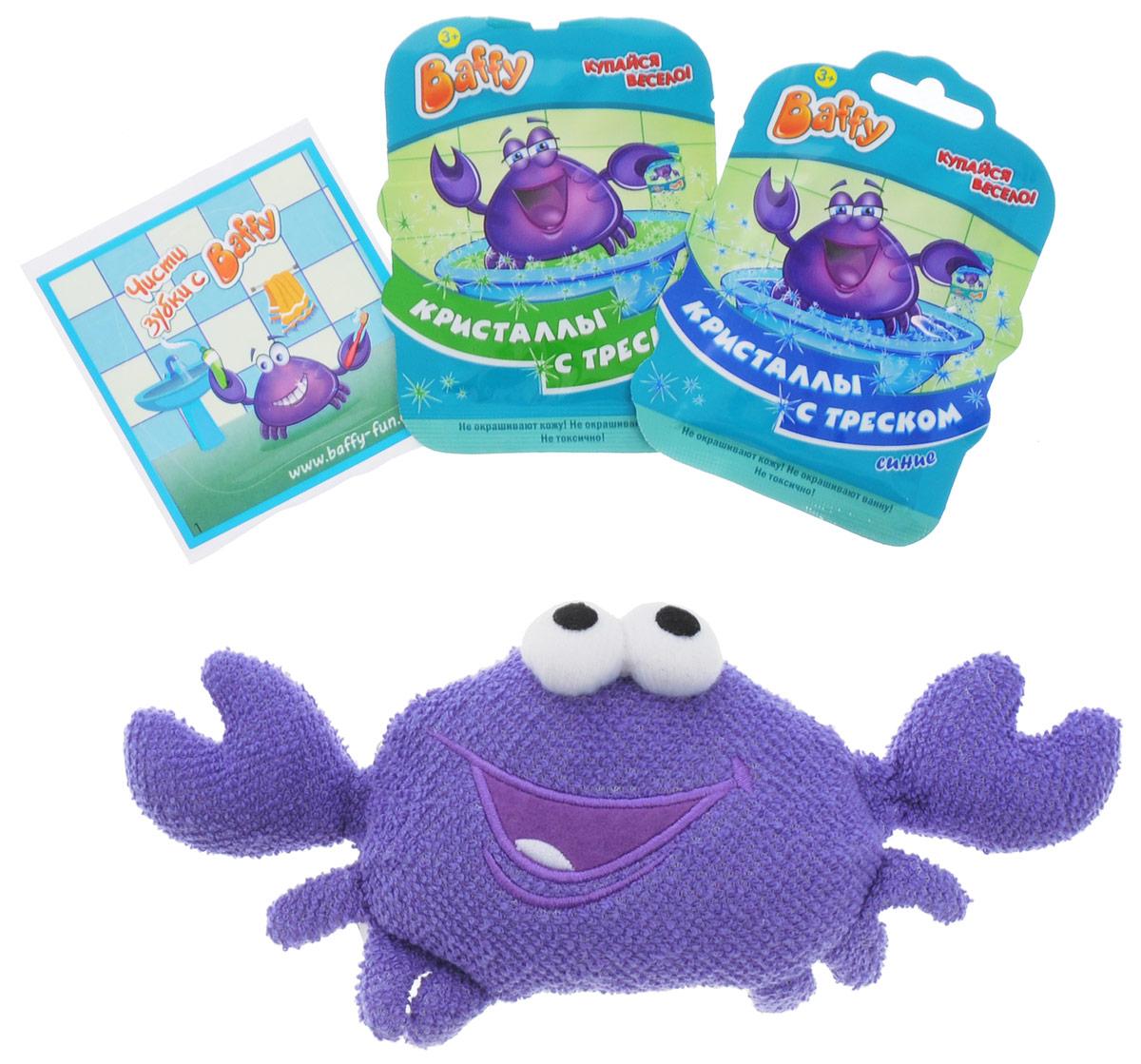 Baffy Набор средств для купания Твой Baffy цвет фиолетовый1301028Набор средств для купания Твой Baffy превратит купание в интересную увлекательную игру с помощью необычной мочалки игрушки Baffy. Мочалка, изготовленная из натуральных, долговечных и нетоксичных материалов, мягко очистит кожу вашего ребенка и станет его любимой игрушкой. А кристаллы с треском, входящие в набор, станут приятным сюрпризом и продлят веселье вашего ребенка в ванной. Теперь ваш ребенок будет играть и купаться в ванне одновременно.Использоваться под наблюдением взрослых. Не использовать в пищевых целях. Хранить в недоступном для детей месте.