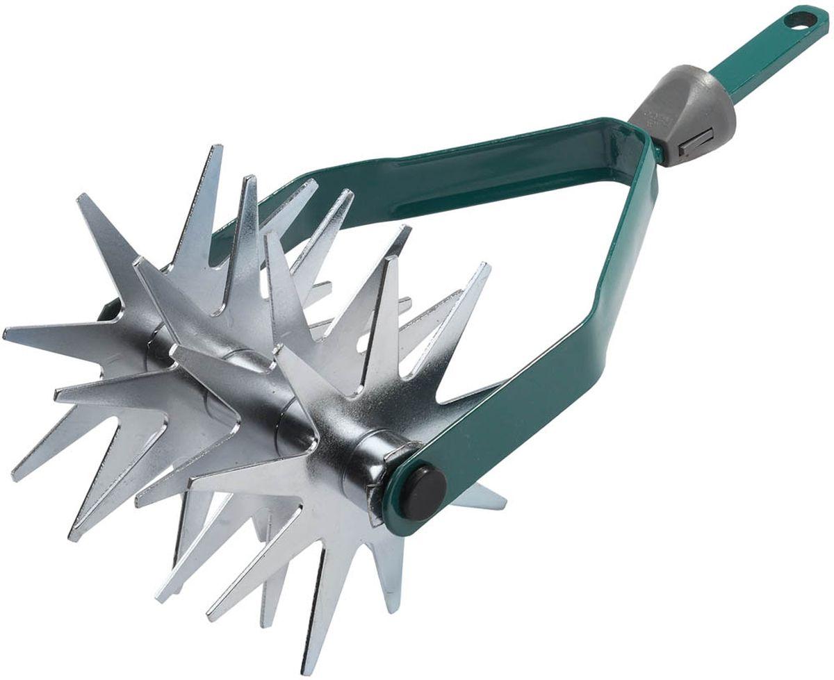 Культиватор Raco дисковый, вращающийся, с быстрозажимным механизмом, ширина 14 смC0038553Дисковый культиватор Raco используется для рыхления почвы. Превосходно подготавливает почву для дальнейшего посева семян.Оснащен двумя вращающимися звездочками, выполненными из инструментальной стали. Культиватор оснащен быстрозажимным механизмом, что позволяет быстро и легко заменить инструмент на другой, нужного размера. Ширина рабочей части: 14 см. Технические характеристики: Тип: вращающийся Материал: сталь Ширина рабочей части: 140 мм