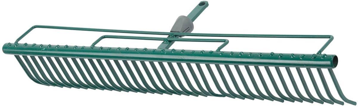 Грабли Raco Maxi, с быстрозажимным механизмом, 60 см531-402Грабли Raco Maxi изготовлены из стали, предназначены для очистки газонов от скошенной травы и листьев. Грабли имеют специальные травозадерживающие перемычки, которые покрыты защитным эпоксидным составом. Грабли Raco Maxi оснащены быстрозажимным механизмом One-Touch, который позволяет легко и быстро заменить грабли на нужные по размеру. Грабли отличаются износостойкостью и долгим сроком эксплуатации.Ширина рабочей части: 60 cм.Количество зубцов: 35.