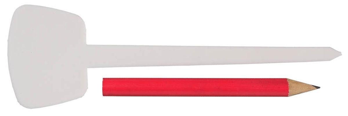 Набор меток-ориентиров Grinda для засеянных грядок, 25 ярлыков (тип - Т) и карандаш, 125 мм8-422371-H26_z01