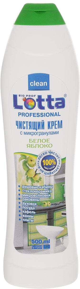 Крем чистящий Lotta Рrofessional, белое яблоко, 500 мл655399Универсальное чистящее средство Lotta Рrofessional деликатно и эффективно удалит стойкую грязь, жировые и известковые налеты, остатки пригоревшей еды и прочие загрязнения, характерные для кухни и ванной комнаты. Идеально подходит для чистки эмалированных, хромированных поверхностей, изделий из стекла, нержавеющей стали, фарфора, фаянса. Благодаря мягкой абразивной текстуре кремообразное средство проникает в структуру загрязнения, устраняет ее, не причиняя вреда очищаемой поверхности.Состав: Товар сертифицирован.