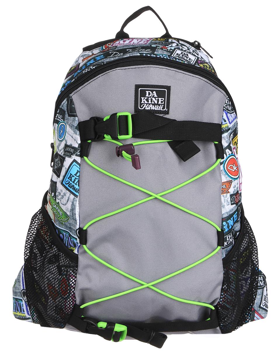 Рюкзак Dakine DK WONDER 15L EQUIP2RIP. 08130060332515-2800Городской однообъемный рюкзак. Лямки для переноски скейтборда, резиновый шнур для закрепления вещей снаружи. Два кармана побокам из сетки.