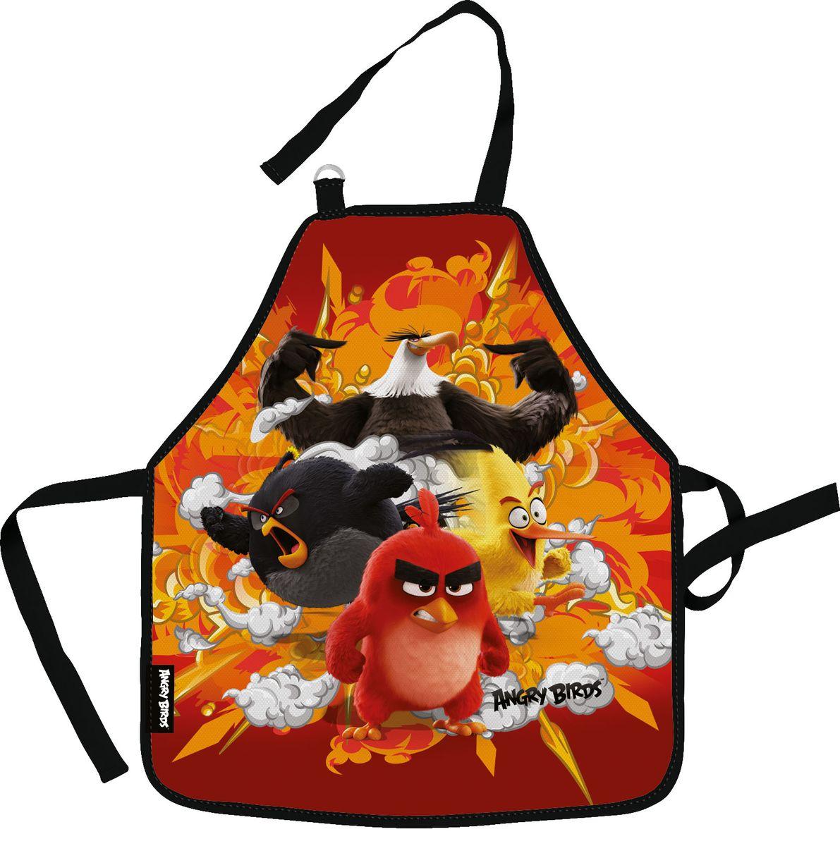 Angry Birds Movie Фартук для труда цвет красный оранжевый черный39699Фартук Angry Birds Movie поможет вашему ребенку не испачкать свою одежду во время занятий творчеством и на уроках труда. Изделие изготовлено из водостойкого материала. Удобные завязки помогут зафиксировать фартук на шее и талии в нужных положениях.