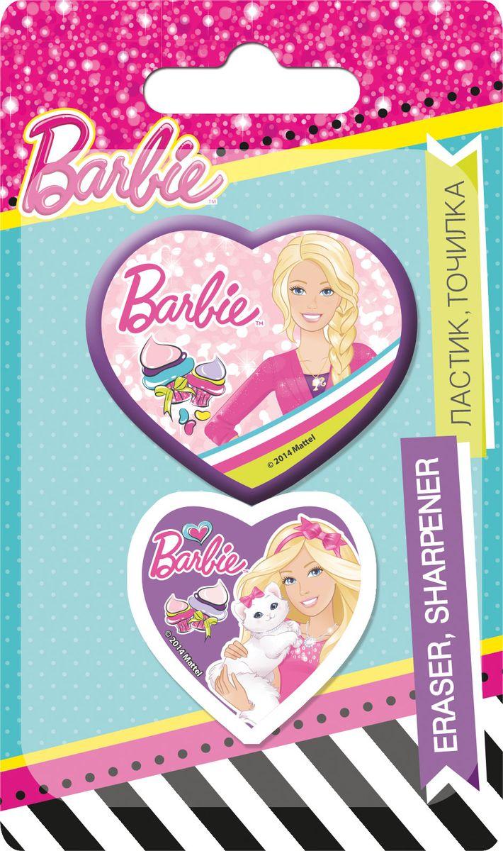 Barbie Канцелярский набор 2 предметаPRBB-US1-220-BLКанцелярский набор Barbie станет незаменимым атрибутом в учебе любой юной школьницы.Он включает в себя ластик и точилку в форме сердечка. Все предметы набора выполнены из качественных материалов и оформлены изображениями очаровательной Barbie.Не рекомендуется детям до 3-х лет.