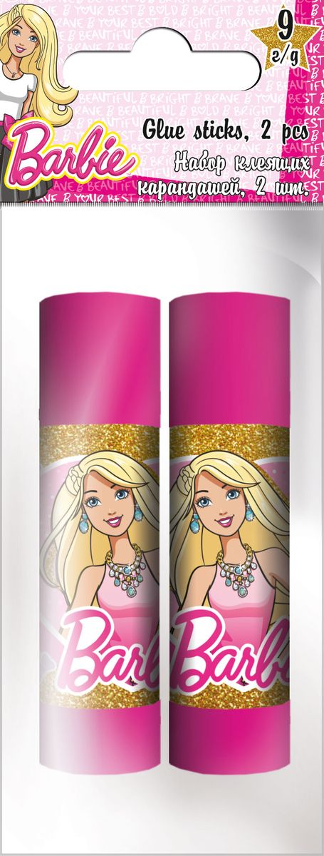 Barbie Клей-карандаш 9 г 2 штFS-00101Клей-карандаш на основе ПВА Barbie предназначен для склеивания бумаги и картона. Практичный пластиковый корпус делает использование клея-карандаша удобным, а колпачок защищает клей от высыхания. Клей не токсичен и не оставляет следов. В комплекте- два флакончика клея.