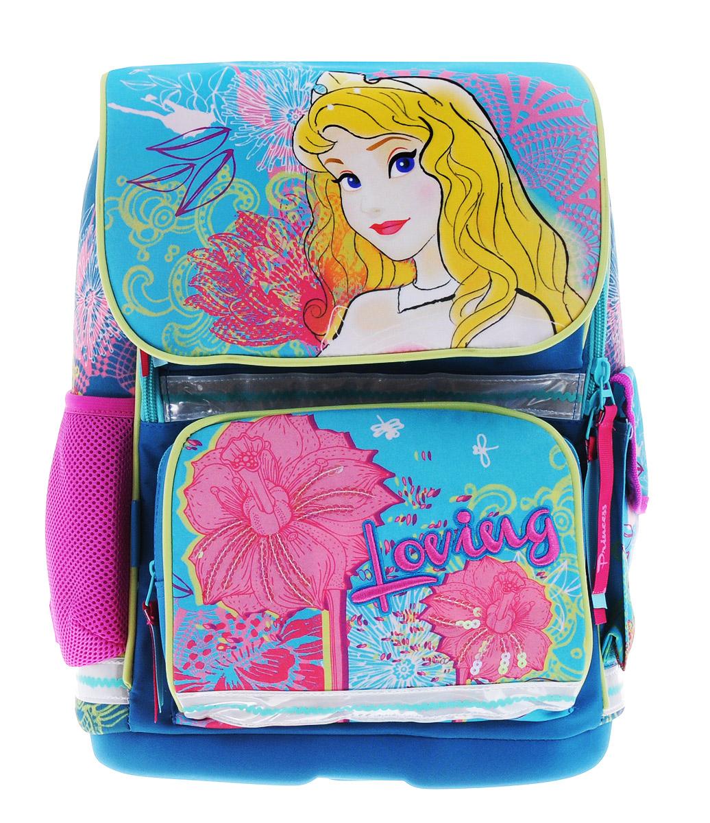 Seventeen Ранец школьный Disney Princess42135/75Ранец школьный Disney Princess - это красивый и удобный рюкзак, который подойдет всем, кто хочет разнообразить свои школьные будни. Ранец выполнен из плотного материала и оформлен оригинальным принтом и вышивкой. Рюкзак имеет одно большое отделение и закрывается на молнию и клапан на липучках. Отделение содержит внутри мягкую перегородку и резинку-держатель. На лицевой стороне рюкзака и под клапаном расположены накладные карманы на молниях. По бокам - один карман-сетка и один закрытый карман на липучке.Рюкзак также оснащен удобной ручкой с резиновой насадкой для удобной переноски и светоотражающими элементами.Широкие регулируемые лямки и сетчатые мягкие вставки на спинке рюкзака предохранят мышцы спины ребенка от перенапряжения при длительном ношении. У ранца имеется грудное крепление-стяжка для фиксации на плечах ребенка. Дно ранца выполнено из пластика, обтянутого тканью, оно не деформируется, обеспечивает ранцу хорошую устойчивость и легко очищается от загрязнений.Многофункциональный детский рюкзак станет незаменимым спутником вашего ребенка.