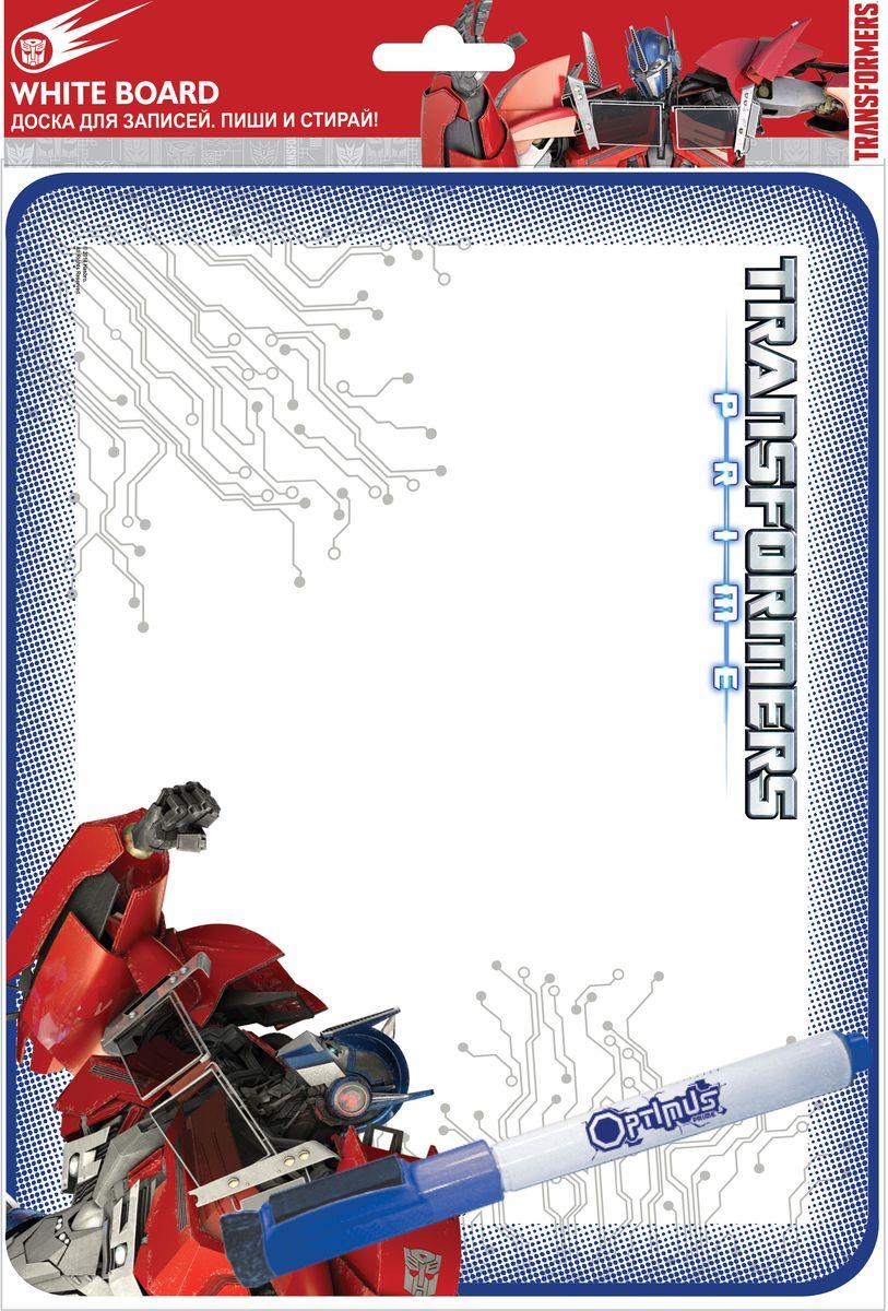 Transformers Доска Пиши-стирайFS-00897Доска для записей Transformers Пиши-стирай позволит держать нужную информацию на видном месте. Картонную доску на магнитах можно прикрепить к холодильнику или подвесить на веревочке и ежедневно украшать новыми рисунками, а также записывать важные напоминания. В комплекте с доской идет специальный маркер со стирателем.Доска для рисования развивает моторику, воображение, концентрацию внимания, цветовое восприятие.
