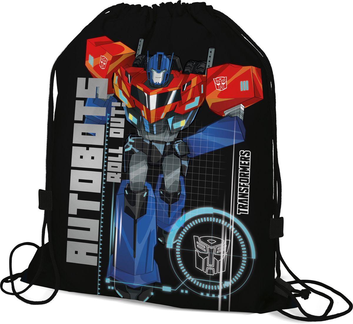 Transformers Мешок для сменной обуви Autobots Roll Out!72523WDМешок для обуви Transformers Autobots Roll Out! изготовлен из прочного полиэстера. Мешок имеет одно отделение, закрывающееся стягивающимся шнуром. Плотная прочная ткань надежно защитит обувь школьника от непогоды, а удобные петли шнура позволят носить мешок, как в руках, так и за спиной.