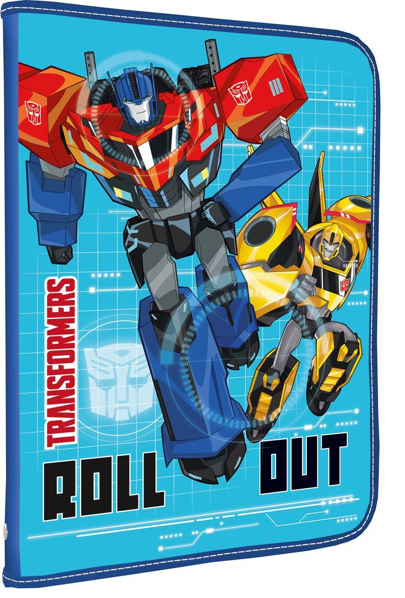Transformers Папка для тетрадей Roll OutAC-1121RDПапка Transformers Roll Out формата А4 - это оптимальный способ уберечь от деформации тетради, документы, рисунки и прочие бумаги. С ней можно забыть о погнутых уголках и краях. Кроме того, теперь все необходимые бумаги и тетради будут аккуратно собраны, а не распределены по разным местам, что сократит время их поиска. Папка выполнена из полипропилена и застегивается на молнию. Внутри - откидной клапан с креплениями для школьных принадлежностей и секцией для тетрадей, рисунков и бумаг формата А4.