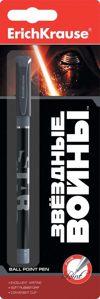 Erich Krause Ручка шариковая Звездные войны72523WDШариковая ручка Erich Krause Звездные войны с нескользящим покрытием корпуса Soft Touch. Имеет мягкий резиновый грип, который создает дополнительный комфорт при длительном письме, и вентилируемый колпачок.Пишущий узел - 0,7 мм. У ручки сменный стержень. Рекомендуется использовать стержни ErichKrause.