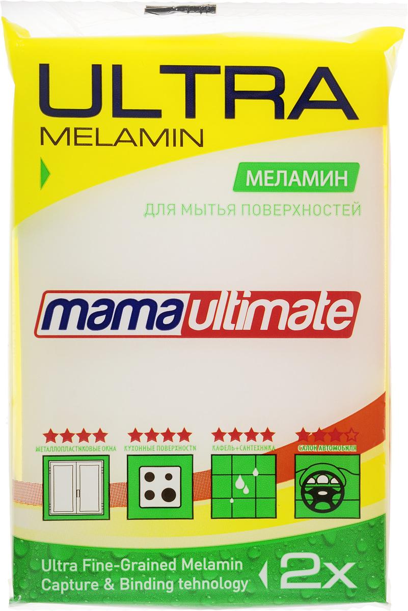 Губка для уборки Mama Ultimate, 11 х 7 х 3 смCLP446Меламиновая губка Mama Ultimate обладает высокой очищающей способностью. Эффективно устраняет жир, известковый налет, накипь, застарелую грязь, пригоревшие остатки пищи, следы от краски и прочие сложные загрязнения. Губка не оставляет следов, разводов и царапин. Не подходит для мытья посуды.