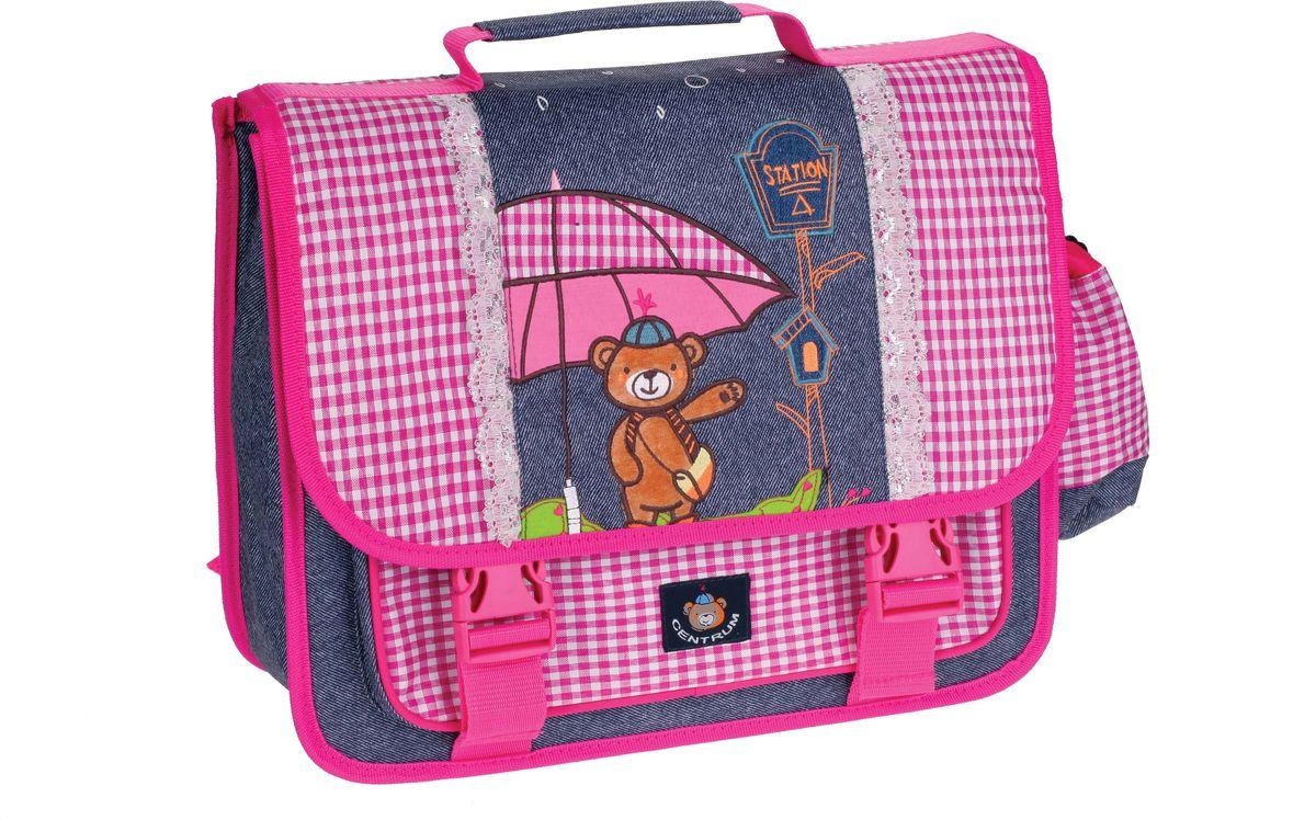 Centrum Школьный ранец Мишка72523WDРанец-рюкзак МИШКА джинса, на 1 отделение, 1 боковой кармана, размер 40х32х15 см., уплотненная спина