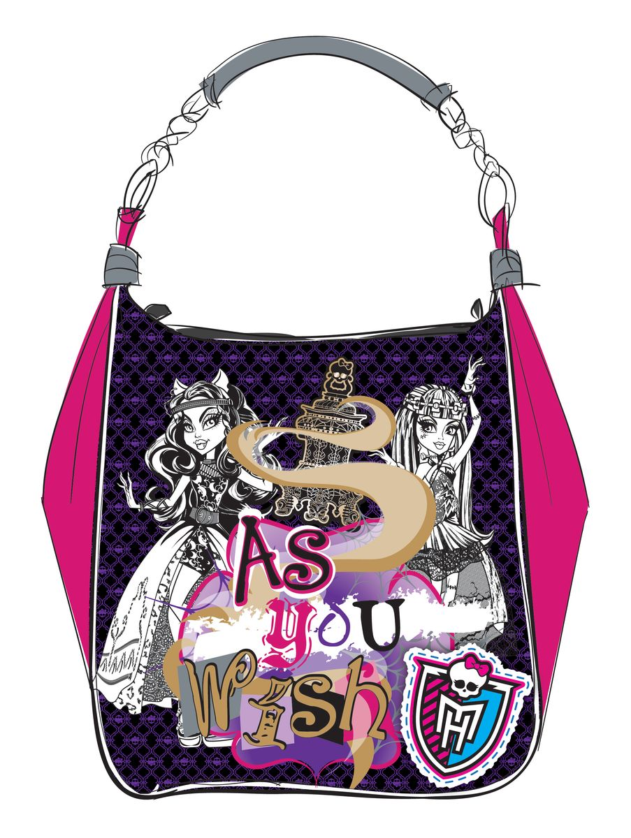 Centrum Школьная сумка Monster High 8605872523WDСумка Мonster High, полиэстер, 28х28х10 см.