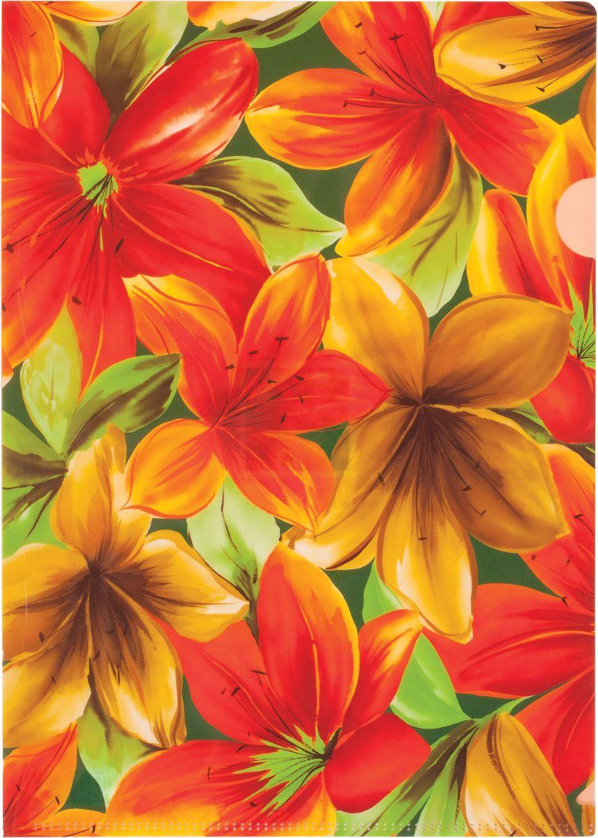 Centrum Папка-уголок Lily формат А4 цвет оранжевыйC13S041944Папка-уголок Centrum Lily - это удобный и практичный инструмент, предназначенный для хранения и транспортировки рабочих бумаг и документов формата А4.Папка изготовлена из плотного глянцевого пластика, оформлена красочным изображением красивых цветов.Папка-уголок - это незаменимый атрибут для студента, школьника, офисного работника. Такая папка надежно сохранит ваши документы и сбережет их от повреждений, пыли и влаги.