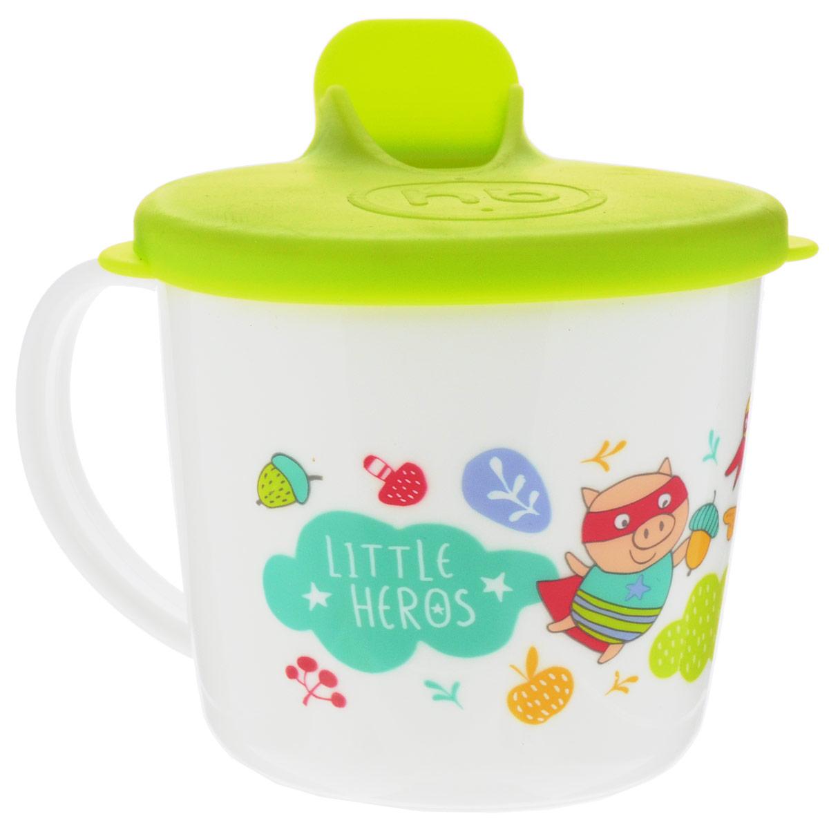 Happy Baby Чашка-поильник от 8 месяцев цвет белый салатовый