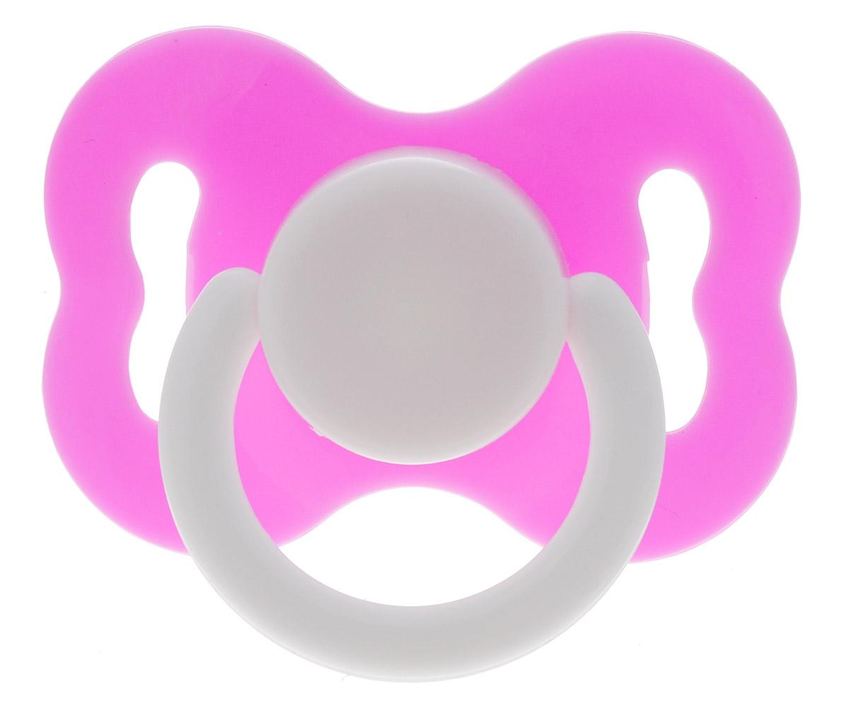 Lubby Пустышка латексная Круглая от 0 месяцев цвет розовый