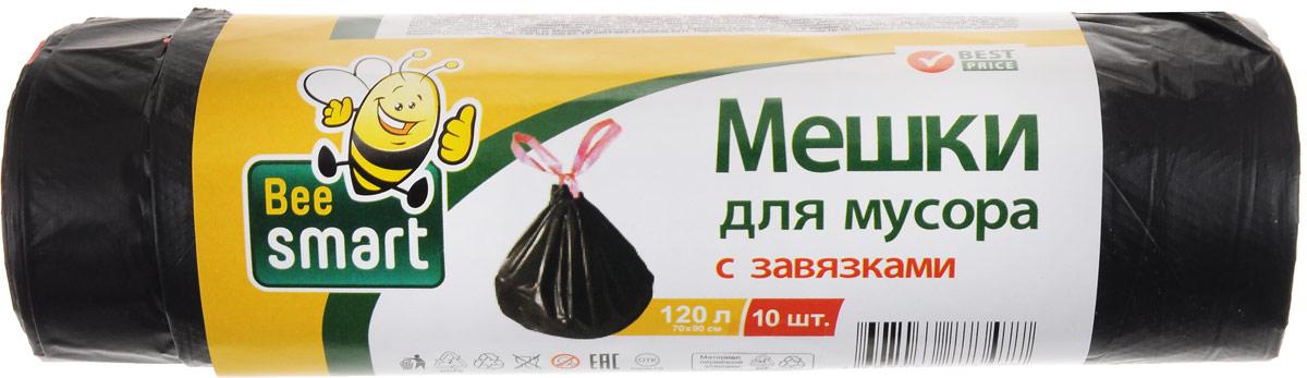 Мешки для мусора Beesmart, с завязками, 120 л, 10 штVCA-00Мешки Beesmart, выполненные извысокопрочного и эластичного полиэтилена, обеспечатчистоту и гигиену в квартире. Они удобны для сбора иутилизации мусора,занимают мало места, практичны в использовании. Широкоприменяются в быту и на производстве. Благодаря прочнымзавязкам изделия удобны в переноске и предотвращаютраспространение неприятного запаха.Размер мешка: 69,5 х 45,5 см. Количество: 10 шт.