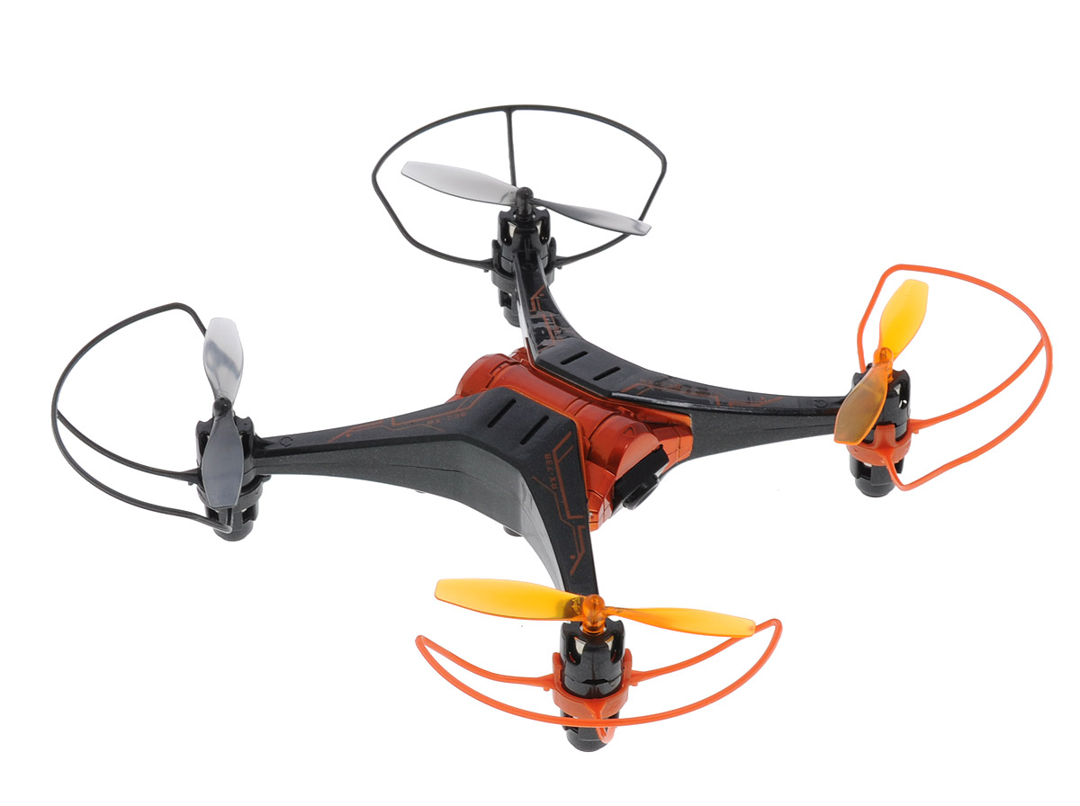 Silverlit Квадрокоптер на радиоуправлении Spy Drone II цвет черный оранжевый