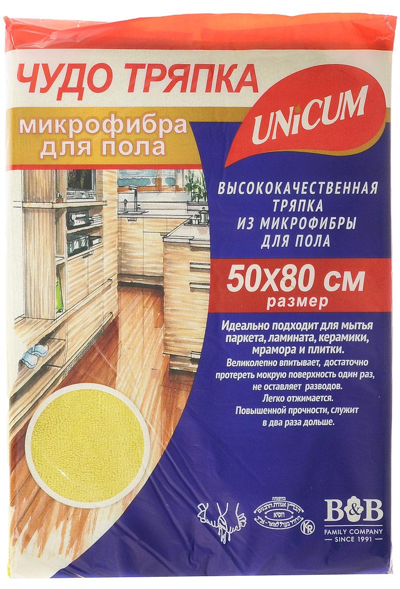 Тряпка для пола Unicum, из микрофибры, цвет: желтый, 50 х 80 см302807_желтыйТряпка для пола Unicum изготовлена из 100% микрофибры. Изделие идеально подходит для мытья паркета, ламината, керамики, мрамора и плитки. Тряпка великолепно впитывает, достаточно протереть мокрую поверхность один раз. Особые микроволокна основательно очищают поверхность, быстро и эффективно впитывают воду, удаляют пыль и грязь, не оставляют разводов. Тряпка не линяет, не усаживается, не изнашивается, легко отжимается, имеет повышенную прочность. Можно стирать при температуре 60°С.