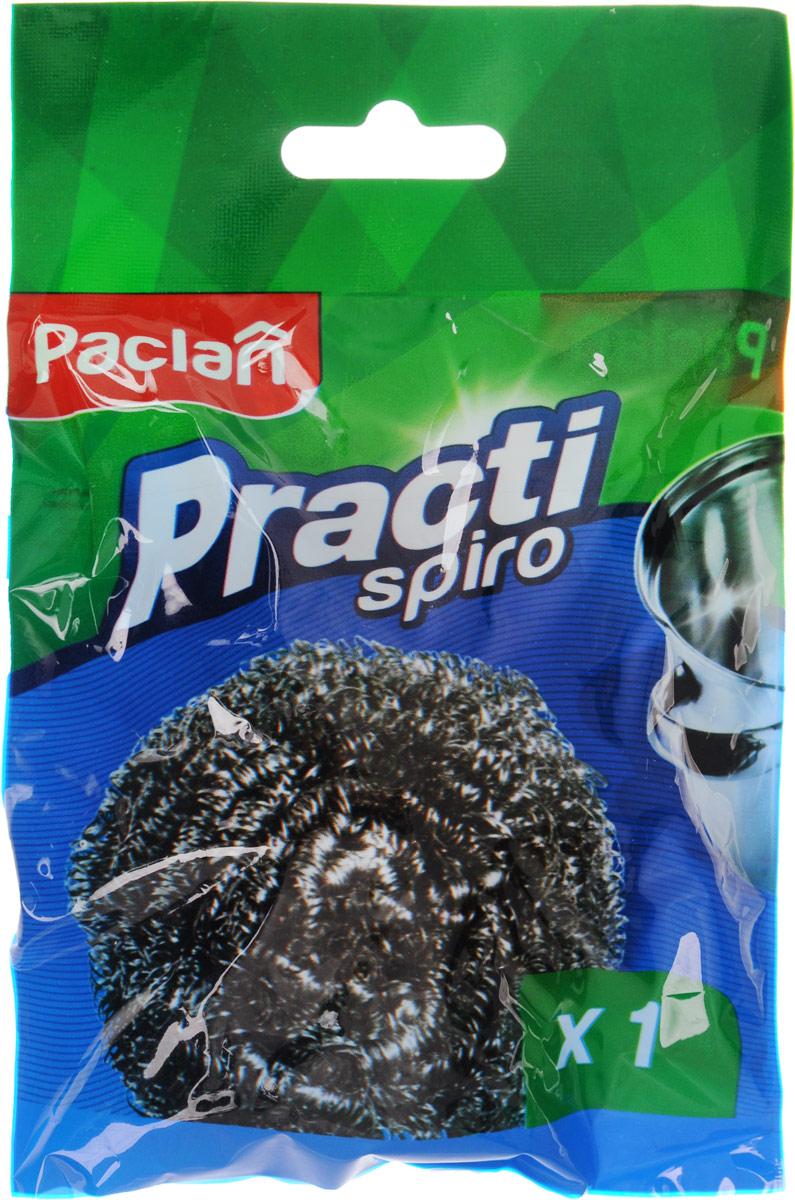 Мочалка для посуды Paclan Spiro, металлическаяLA1013ГЛПРМеталлическая мочалка для посуды Paclan Spiro эффективно устраняет сильные загрязнения. Имеет долгий срок службы, не окисляется. Прекрасно справляется с очисткой грилей, барбекю, решеток и других предметов для жарки. Не используйте для мытья посуды с антипригарным покрытием.