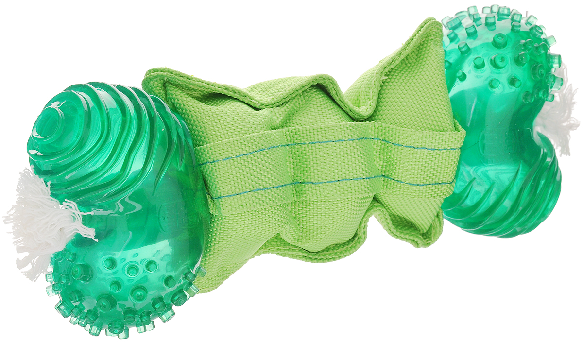 Игрушка для собак Dogit 360° Clean, большая, для ухода за зубами, 24 х 8,5 х 5,5 см16375/620853 малиновыйИгрушка Dogit 360° Clean выполнена извысококачественной синтетической резины в виде косточки стекстильной вставкой. Изделие предназначено для чистки иухода за зубами для собак крупных пород. Концыигрушки вращаются в пасти на 360° при покусывании.Такая игрушка привлечет внимание вашего любимца и неоставит его равнодушным.