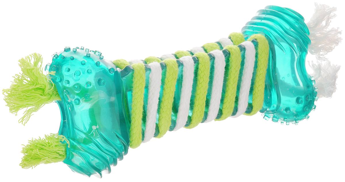 Игрушка для собак Dogit Floss, большая, для ухода за зубами, с мятным запахом, 26 х 9 х 5 см0120710Игрушка для собак Dogit Floss выполнена из высококачественной синтетической резины в виде косточки и оснащена текстильными шнурками с мятным запахом. Подходит для собак крупных пород. Изделие предназначено для чистки и ухода за зубами. Игрушка предотвращает образование зубного камня и воспаление десен.Такая игрушка привлечет внимание вашего любимца и не оставит его равнодушным.