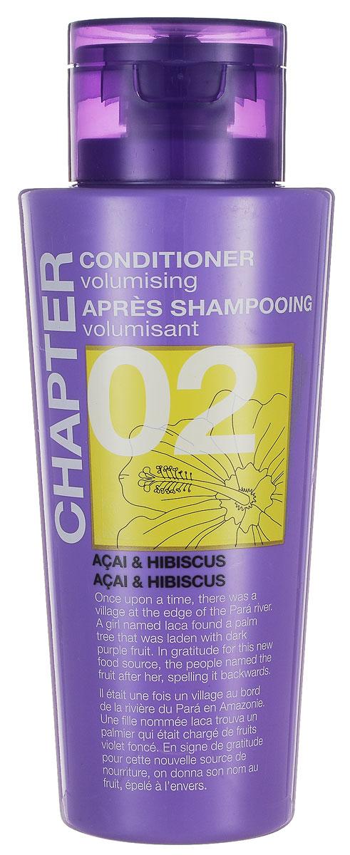 Chapter Кондиционер для волос Chapter с ароматом ягод асаи и гибискуса, 400 млMP59.4DКондиционер с ароматом ягод асаи и гибискуса, придающий объем, имеет нежную и легкую текстуру, которая питает и смягчает волосы, восстанавливая здоровый блеск и сияние. Не утяжеляет волосы, помогает расчесать спутанные пряди. Не содержит парабенов, силиконов и красителей.