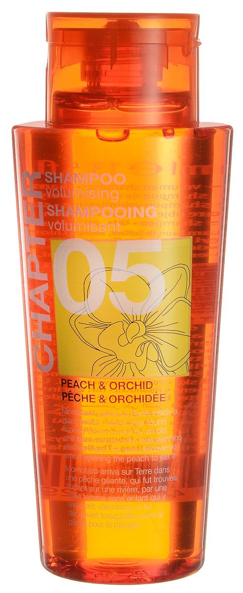 Chapter Шампунь для волос Chapter с ароматом персика и орхидеи, 400 мл72523WDБлагодаря специально разработанному составу, шампунь с ароматом персика и орхидеи не утяжеляет волос, придавая мягкость и восстанавливая блеск. Шампунь, придающий объем волосам. Подходит для всех типов волос, в том числе и для окрашенных. Не содержит парабенов, силиконов и красителей.