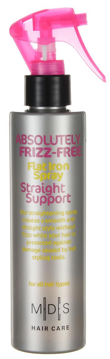 Hair Care Спрей для волос Absolutely Anti-Frizz Straight Support выпрямляющий с эффектом утюжка, 200 мл803809Выпрямляющий спрей с эффектом утюжка. Защищает волосы при температуре до 220С. Экстракт кукурузы придает гладкость и не дает волосам пушиться. Про-витамин В5, экстракты кукурузы и огурца восстанавливают водный баланс. Волосы идеально распрямлены и вытянуты. Подходит для ежедневного применения.Для сухих волос.