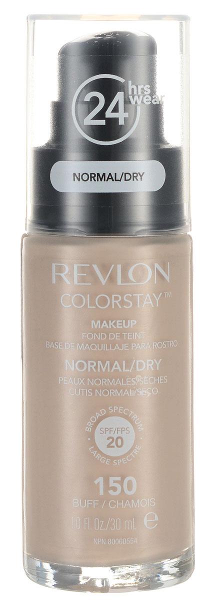 Revlon Тональный Крем для Норм-Сух Кожи Colorstay Makeup For Normal-Dry Skin Buff 150 30 мл7221553002Colorstay - легендарная коллекция тональных средств, выбор ведущих визажистов во всем мире! Colorstay Make Up For Normal / Dry Skin - тональный крем с удивительно легкой текстурой идеально выравнивает тон и рельеф кожи, обеспечивая ей при этом должный уровень увлажнения. Colorstay™ дарит коже приятную матовость, сохраняет макияж безупречным надолго - гарантированная стойкость в течение 24 часов! Предназначен для сухой и нормальной кожи.Наносите крем легкими разглаживающими движениями от центра к контурам с помощью кисти или пальцев, затем растушуйте на границе нанесения: у линии роста волос, в области шеи и ушей.
