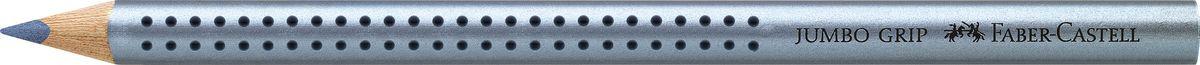 Faber-Castell Карандаш цветной Jumbo Grip цвет синий металлик72523WDFaber-Castell Jumbo Grip - цветной карандаш эргономичной трехгранной формы с утолщенным корпусом. Запатентованная Grip антискользящая зона захвата с малыми массажными шашечками. Мягкий грифель идеален для рисования и тренировки письма. Специальная технология вклеивания (SV) предотвращает поломку грифеля.Корпус покрыт лаком на водной основе - бережным по отношению к окружающей среде и здоровью детей.Качественная древесина - гарантия легкого затачивания при помощи стандартных точилок. Грифель размывается водой. Отстирывается с большинства обычных тканей.