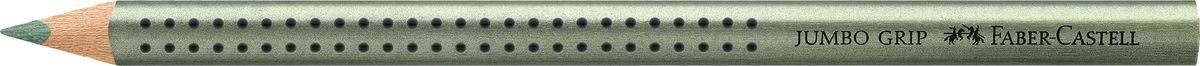 Faber-Castell Карандаш цветной Jumbo Grip цвет зеленый72523WDFaber-Castell Jumbo Grip - цветной карандаш эргономичной трехгранной формы с утолщенным корпусом. Запатентованная Grip антискользящая зона захвата с малыми массажными шашечками. Мягкий грифель идеален для рисования и тренировки письма. Специальная технология вклеивания (SV) предотвращает поломку грифеля.Корпус покрыт лаком на водной основе - бережным по отношению к окружающей среде и здоровью детей.Качественная древесина - гарантия легкого затачивания при помощи стандартных точилок. Грифель размывается водой. Отстирывается с большинства обычных тканей.