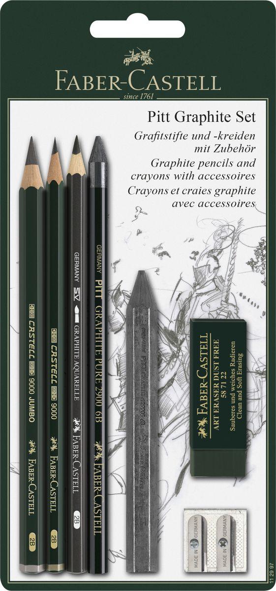 Faber-Castell Набор пастельных карандашей и мелков Pitt110013Набор Faber-Castell Pitt состоит из пастельных карандашей и мелков, а также нескольких аксессуаров: ластика и точилки на два вида карандашей. Пастельные карандаши Pitt, с грифелями без масляной основы, используются профессиональными художниками не только для корректировки рисунков нанесенными пастельными мелками, но и для создания рисунков ими же. Многие художники получают удовольствие от пастельной техники и ее многогранности. Грифель пастельных карандашей Pitt очень компактный и экономичный в использовании. Грифель имеет высокое содержание пигментов, что позволяет одинаково легко наносить рисунок и затенять его.Мелки Pitt monochrome от Faber-Castell разработаны для рисования эскизов тверже, чем обычные пастельные мелки. По этой причине, линии не исчезают полностью при смазывании рисунка. Мелки, цвета сепии и сангины на масляной и безмасляной основах, созданы для тщательных проработок линий и деталей в эскизах.Такой подарок будет незаменим как юным, так и взрослым художникам.