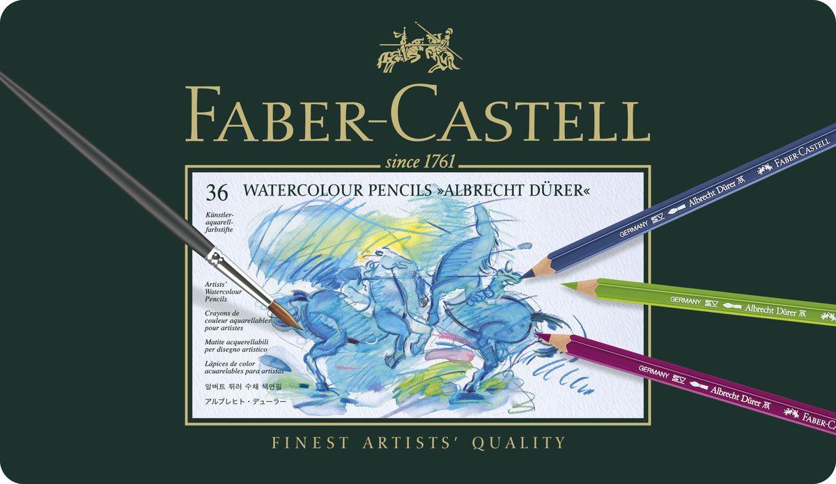 Faber-Castell Акварельные карандаши Albrecht Durer 36 шт2010440Акварельные карандаши Faber-Castell Albrecht Durer наивысшего качества прекрасно подойдут для детского творчества. Высококачественные пигменты гарантируют устойчивость к выцветанию и выразительныйцвет.