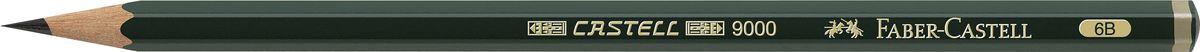 Faber-Castell Карандаш чернографитный Castell 9000 твердость 6BC13S041944Faber-Castell Castell 9000 - шестигранный графитный карандаш наивысшего качества с долголетней традицией. Пригоден не только для письма, но и для эскизов и рисования. Покрыт лаком на водной основе в интересах защиты окружающей среды. Специальная SV технология вклеивания грифеля предотвращает его поломку при падении. Высокое качество мягкой древесины обеспечивает легкое затачивание.