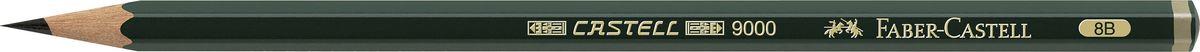 Faber-Castell Карандаш чернографитный Castell 9000 твердость 8B119008Faber-Castell Castell 9000 - шестигранный графитный карандаш наивысшего качества с долголетней традицией. Пригоден не только для письма, но и для эскизов и рисования. Покрыт лаком на водной основе в интересах защиты окружающей среды. Специальная SV технология вклеивания грифеля предотвращает его поломку при падении. Высокое качество мягкой древесины обеспечивает легкое затачивание.