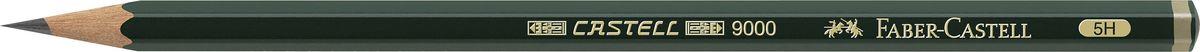 Faber-Castell Карандаш чернографитный Castell 9000 твердость 5H127NC12P1Faber-Castell Castell 9000 - шестигранный графитный карандаш наивысшего качества с долголетней традицией. Пригоден не только для письма, но и для эскизов и рисования. Покрыт лаком на водной основе в интересах защиты окружающей среды. Специальная SV технология вклеивания грифеля предотвращает его поломку при падении. Высокое качество мягкой древесины обеспечивает легкое затачивание.