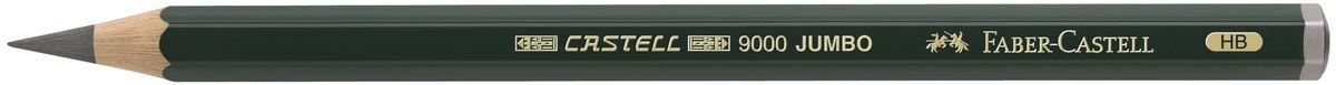 Faber-Castell Карандаш чернографитовый Castell 9000 Jumbo 1193002010440Чернографитовый карандаш Faber-Castell Castell 9000 Jumbo предназначен не только для письма, но и для эскизов и рисования.Специальная SV технология вклеивания грифеля предотвращает его поломку при падении, а высокое качество мягкой древесины обеспечивает легкое затачивание.Такой карандаш с чистым графитом не царапает бумагу, ровно и гладко ложится, хорошо штрихует, передавая воздушность и светотени.