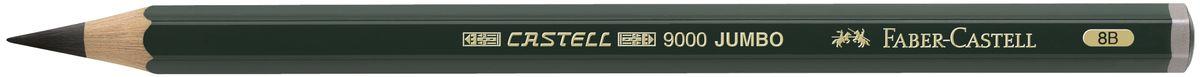 Faber-Castell Карандаш чернографитовый Castell 9000 Jumbo 119308118362Чернографитовый карандаш Faber-Castell Castell 9000 Jumbo предназначен не только для письма, но и для эскизов и рисования.Специальная SV технология вклеивания грифеля предотвращает его поломку при падении, а высокое качество мягкой древесины обеспечивает легкое затачивание.Такой карандаш с чистым графитом не царапает бумагу, ровно и гладко ложится, хорошо штрихует, передавая воздушность и светотени.